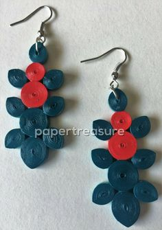 They Are Trendy Light Weight And Eco Friendly Coated With Varnish For Durability Water Resistance Pooja Agarwal Paper Quilling Earrings