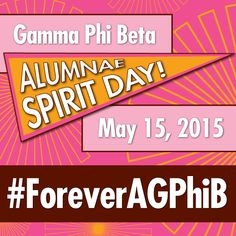 Mark your calendars! On May 15, show that you are #ForeverAGPhiB by hosting a gathering with sisters, wearing Gamma Phi Beta apparel and sharing your favorite photos and stories with us on social media.
