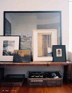 otro ejemplo de salón bajito y muy horizontal,ideal para poner cuadros :) muy horizontal muy bohemio