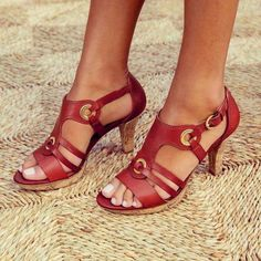 Women's Sandals Pumps Peep Toe Stiletto Heel Fabric Lace-up Sandals, veryvoga Lace Up Heels, Strap Heels, Strap Sandals, Wedge Sandals, Block Sandals, Red Heels, Heeled Sandals, Sexy Sandals, Ankle Strap