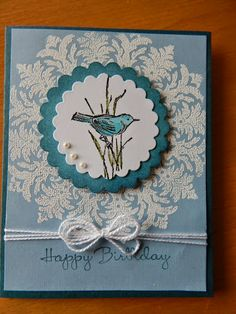 Dianne's cards-SU-Medallion, Simply Sketched, and Happiest Birthday Wishes