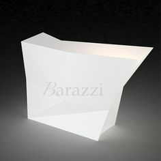 Faz Bar Latéral Blanc Lumineux par Vondom. Collection Modulable. Bar destiné à un usage professionnel