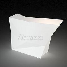 Faz Bar Latéral Blanc Lumineux par Vondom. Collection Modulable. Bar destiné à un usage professionnel