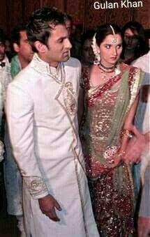 Shoaib Malik& Sania Mirza at Marriage ceremony at Sialkot Punjab Pakistan