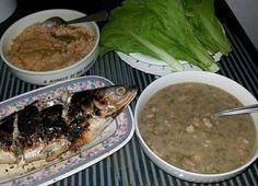 Filipino meals ( Inihaw na bangus, ginisang munggo, mustasa at buro