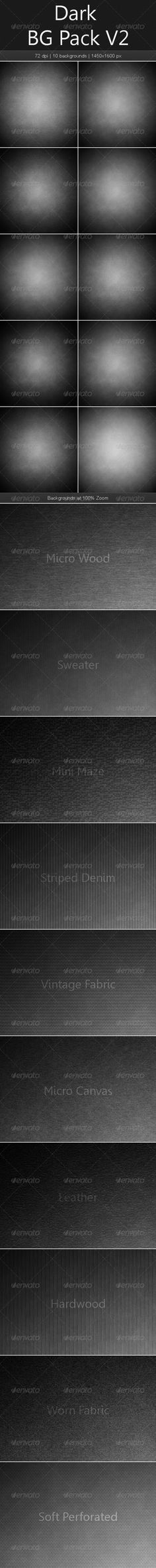 Dark BG Pack V2 by graphicmind This pack contains 10 dark backgrounds with center lighting. 10JPGfiles included (14501600 pixels at 72 dpi). Backgrounds include