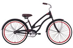 Del Sol Women's Beach Cruiser Black Shadow