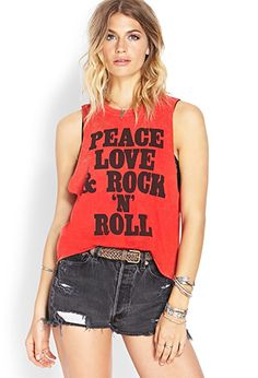 Rock N Roll Muscle Tee | FOREVER 21 - 2000062261