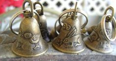 Wind chime mini bells metal craft bells by FlauntingCharms on Etsy, $0.52