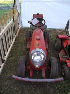1951 Graveley lawnand garden tractor... the front end is a Studebaker fender Just A Car Guy: lawnmower
