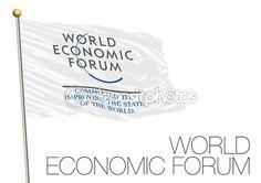 DAVOS, SWITZERLAND - JANUARY 2016: World Economic Forum 2016, international conference of economy — Stock Vector © frizio #96493094