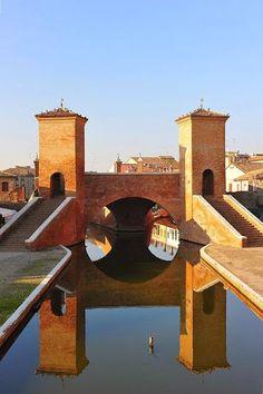 Ponte dei Trepponti di Comacchio, Italy