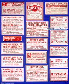 17~all Poison~antique Drug Store Medicine Bottle Labels Other photo