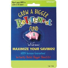 Gag Gift Ideas - Pin it :-) Follow us, CLICK IMAGE TWICE for Pricing and Info . SEE A LARGER SELECTION of gag gift ideas at http://azgiftideas.com/product-category/gag-gift-ideas/ - gift ideas, funny gift ideas , naughty gifts ideas Grow A Bigger Retirement Fund Gag Gift