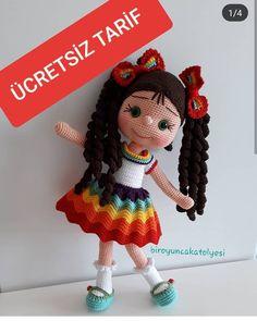 "hilalgurumii on Insthilaagram: "" Crochet Teddy Bear Pattern, Crochet Amigurumi Free Patterns, Crochet Doll Pattern, Crochet Dolls, Amigurumi For Beginners, Cute Themes, Cat Amigurumi, Bunny Toys, Stuffed Toys Patterns"