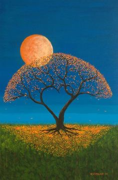 moon Sun Moon, Stars And Moon, Image Lune, Moon Goddess, Beautiful Moon, Simply Beautiful, Tree Art, Moon Art, Arte Digital