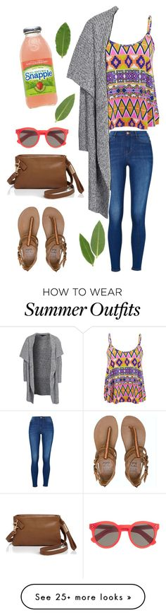 """""""Casual Summer Outfit ☀️"""" by oliviajob on Polyvore featuring moda, Influence, New Look, Billabong, Illesteva y Foley + Corinna"""