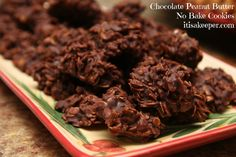 Chocolate Peanut Butter No Bake Cookies It's a Keeper