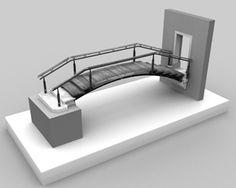 Modello del Ponte fondazione Querini Stampalia, CARLO SCARPA