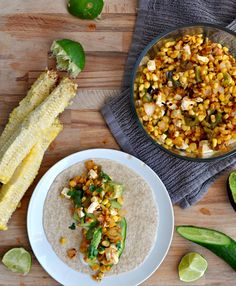 Charred Corn and Pepper Tacos Recipe