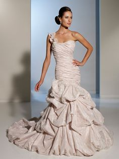 Gorgeous one shoulder strap bridal gown by Designer Wedding Dresses by Sophia Tolli  |  Wedding Dresses  |  style #Y11230 - Soledad