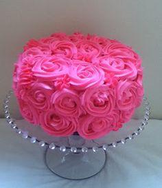 Rose Swirl Cake Design : pink rose swirl cake Cake decorating ideas Pinterest ...