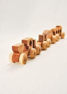 Awesome handmade train! Great Christmas present