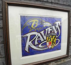 baltimore ravens print originalart faux vintage print wallhanging sports