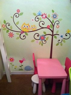 owl decor | ... and Childrens Bedroom - One Mural, Many Walls contemporary kids decor