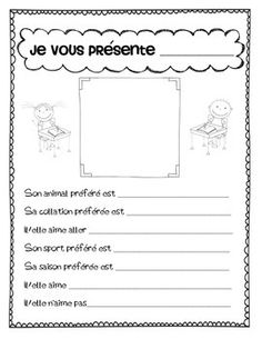 French First day week activities get to know students and teacher En outre, lorsque répondre French Lessons, Spanish Lessons, Teaching French, Teaching Spanish, French Worksheets, First Day Of School Activities, Core French, French Grammar, French Classroom