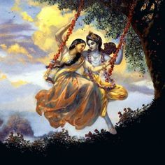 The immortal love between Krishna and Radha have been told, televised to us since childhood. The innocent lovers were made to part as Krishna had the great Lord Krishna Images, Radha Krishna Pictures, Krishna Photos, Shree Krishna Wallpapers, Radha Krishna Wallpaper, Krishna Radha, Krishna Leela, Radha Rani, Krishna Painting