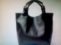 Fashion Genuine Leather Handbag/ Black