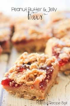 These Peanut Butter and Jelly Bars are great for a grab and go breakfast or as a dessert. Either way, they are delicious! They layers all go together perfectly.