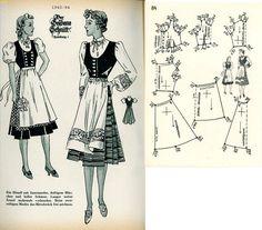 1940s (1940) German Women's Dirndl Lutterloh 1940-84