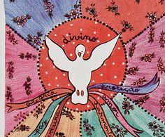 Azulejo Divino Espírito Santo Santeiro - 10x10cm