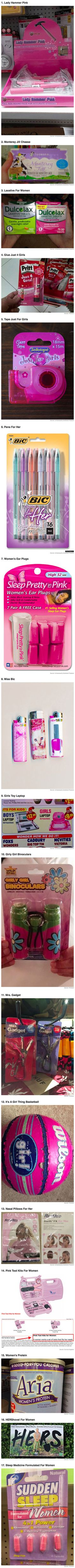 Here are some unnecessarily gendered products that will really make you wonder.
