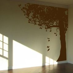 I'm thinking against a sage green or burnt orange wall? I love how it's whimsical without being all cutesy cutesy.