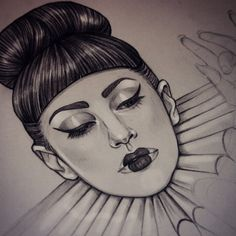 Working on a slightly theatrical new Gaga drawing, this one may take a while!
