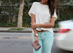 cropped pants green