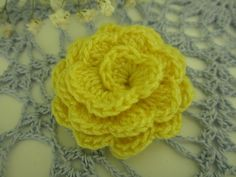 Crochet yellow flower ♥LCF-MRS️♥️ with step by step picture instructions.
