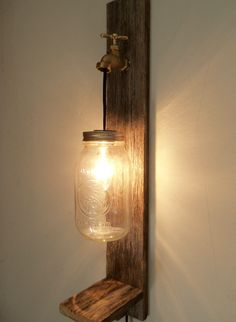 Mason Jar Wall Lamp