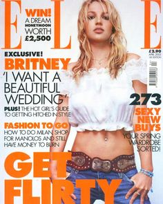 Britney Spears 2002, Britney Spears Pictures, Elle Magazine, Magazine Covers, Girl Guides, Pretty Woman, Style Guides, New Fashion, My Girl