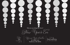 New Year's Eve Invitation New Years Eve Invitations, Holiday Party Invitations, Throw A Party, Holiday Parties, Party Planning, Seasons, Seasons Of The Year, Parties