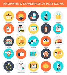Shopping Icons — JPG Image #retail #mobile • Available here → https://graphicriver.net/item/shopping-icons/9255735?ref=pxcr