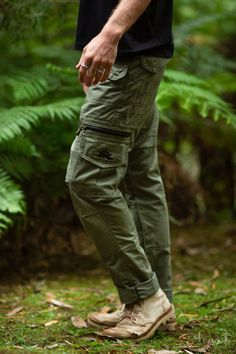Cargo Pocket Trousers Olive Festival Outdoor Clothing Men image 1 Mens Outdoor Clothing, Green Pictures, Loose Shorts, Man Images, Dark Khaki, Riding Gear, Green Man, Outdoor Outfit, Playing Dress Up