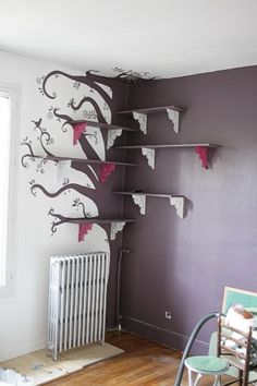 1000 id es sur le th me biblioth que d 39 arbre sur pinterest tag res tag re d 39 arbre et. Black Bedroom Furniture Sets. Home Design Ideas