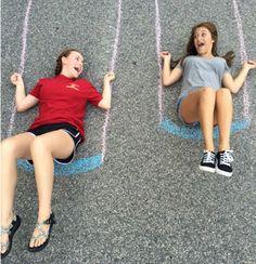 22 Totally Awesome Sidewalk Chalk Ideas - Swingin' Around