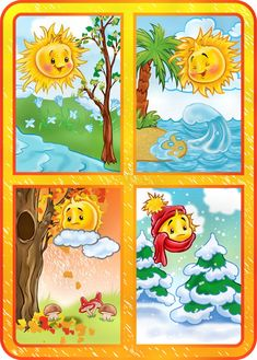 TOUCH esta imagen: Seizoenen by Wampie Weather For Kids, Preschool Weather, Seasons Activities, Preschool Activities, Classroom Board, Classroom Decor, Teaching Kids, Kids Learning, Four Seasons Art