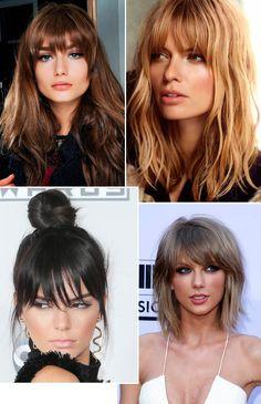 Corte cabelo com franja.