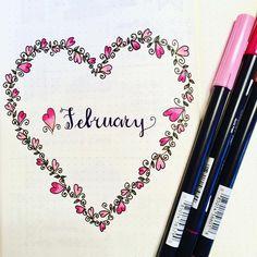 February bullet journal - love it!